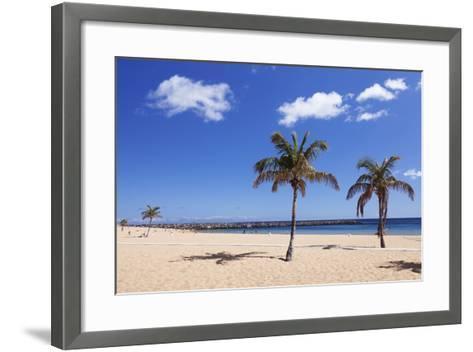 Playa De Las Teresitas Beach, San Andres, Tenerife, Canary Islands, Spain, Europe-Markus Lange-Framed Art Print