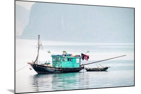 Boats in Ha Long Bay on a Foggy Morning, Quang Ninh Province, Vietnam, Indochina, Southeast Asia-Jason Langley-Mounted Photographic Print