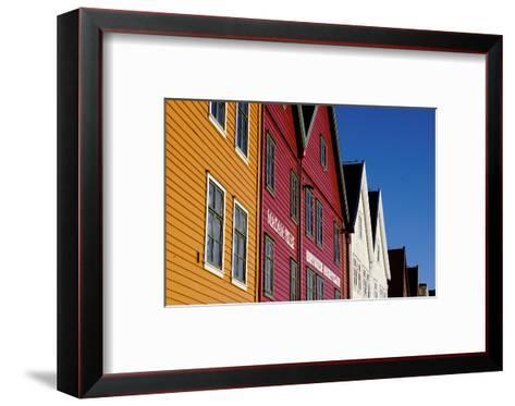 Traditional Wooden Hanseatic Merchants Buildings of the Bryggen, Bergen, Norway, Scandinavia-Robert Harding-Framed Art Print