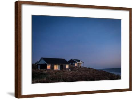 Beach Huts, Embleton Bay, Northumberland, England, United Kingdom, Europe-Bill Ward-Framed Art Print