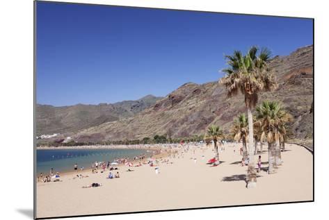 Playa De Las Teresitas Beach, San Andres, Tenerife, Canary Islands, Spain, Atlantic, Europe-Markus Lange-Mounted Photographic Print