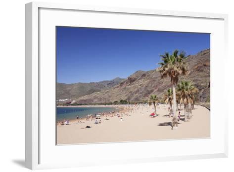 Playa De Las Teresitas Beach, San Andres, Tenerife, Canary Islands, Spain, Atlantic, Europe-Markus Lange-Framed Art Print