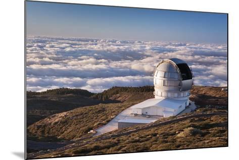 Observatory Gran Telescopio Canarias, Parque Nacional De La Caldera De Taburiente, Canary Islands-Markus Lange-Mounted Photographic Print