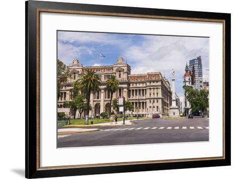 Teatro Colon in Plaza Lavalle (Lavalle Square), Buenos Aires, Argentina, South America-Matthew Williams-Ellis-Framed Art Print