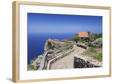 Restaurant at Mirador De La Pena, Architect Cesar Manrique, El Hierro, Canary Islands, Spain-Markus Lange-Framed Art Print