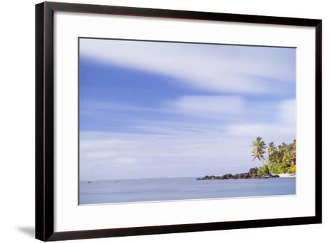 Palm Tree Long Exposure, Muri, Rarotonga, Cook Islands, South Pacific, Pacific-Matthew Williams-Ellis-Framed Art Print