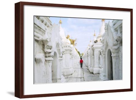 Kuthodaw Pagoda - Stupas Housing the World's Largest Book, Mandalay, Myanmar (Burma)-Alex Robinson-Framed Art Print