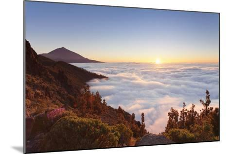 Pico Del Teide at Sunset, National Park Teide, Tenerife, Canary Islands, Spain-Markus Lange-Mounted Photographic Print