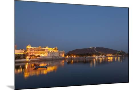 City Palace in Udaipur at Night, Reflected in Lake Pichola, Udaipur, Rajasthan, India, Asia-Martin Child-Mounted Photographic Print