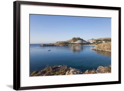 View across the Tranquil Waters of Lindos Bay, South Aegean-Ruth Tomlinson-Framed Art Print