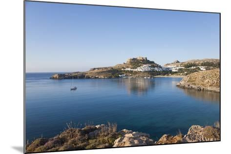 View across the Tranquil Waters of Lindos Bay, South Aegean-Ruth Tomlinson-Mounted Photographic Print