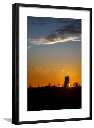 Sunset Behind the Parish Church of the Holy Trinity and All Saints at Winterton on Sea, England-Andrew Sproule-Framed Art Print