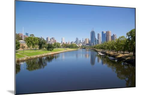 Yarra River and City Skyline, Melbourne, Victoria, Australia, Pacific-Frank Fell-Mounted Photographic Print