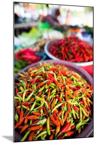 Chillies in Market, Phuket, Thailand, Southeast Asia, Asia-John Alexander-Mounted Photographic Print