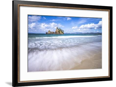 Pungapunga Island, Whangapoua Beach, Coromandel Peninsula, North Island, New Zealand, Pacific-Matthew Williams-Ellis-Framed Art Print
