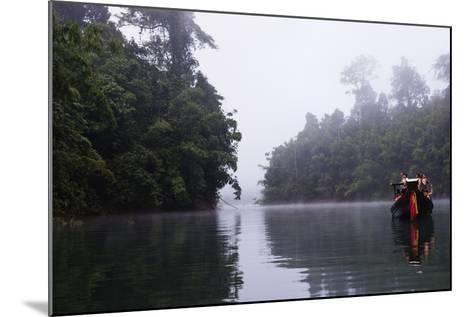 Tourists Sightseeing, Ratchaprapa Reservoir, Khao Sok National Park, Surat Thani Province, Thailand-Christian Kober-Mounted Photographic Print