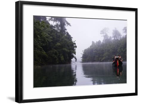 Tourists Sightseeing, Ratchaprapa Reservoir, Khao Sok National Park, Surat Thani Province, Thailand-Christian Kober-Framed Art Print