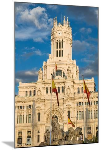 Fountain and Cybele Palace, Formerly the Palace of Communication, Plaza De Cibeles, Madrid, Spain-Martin Child-Mounted Photographic Print
