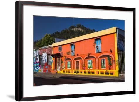 Colourful Buildings in Barrio Bellavista (Bellavista Neighborhood), Santiago Province, Chile-Matthew Williams-Ellis-Framed Art Print