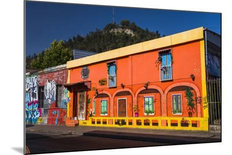Colourful Buildings in Barrio Bellavista (Bellavista Neighborhood), Santiago Province, Chile-Matthew Williams-Ellis-Mounted Photographic Print
