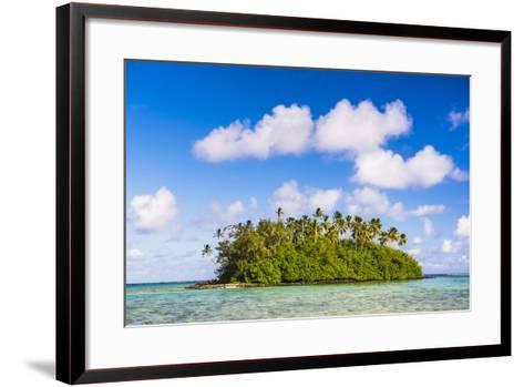Tropical Island of Motu Taakoka Covered in Palm Trees in Muri Lagoon, Cook Islands, Pacific-Matthew Williams-Ellis-Framed Art Print