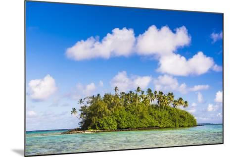 Tropical Island of Motu Taakoka Covered in Palm Trees in Muri Lagoon, Cook Islands, Pacific-Matthew Williams-Ellis-Mounted Photographic Print
