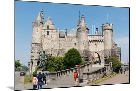 Het Steen, a Medieval Fortress in Antwerp, Belgium, Europe-Carlo Morucchio-Mounted Photographic Print