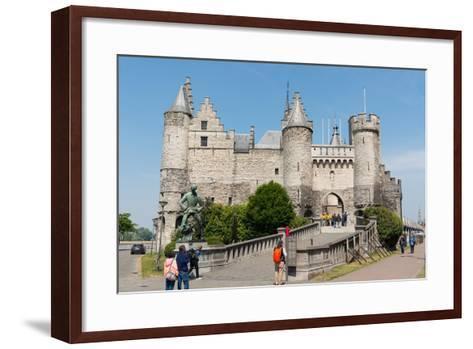 Het Steen, a Medieval Fortress in Antwerp, Belgium, Europe-Carlo Morucchio-Framed Art Print