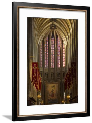Looking Down the Nave of Cathedrale Sainte Croix D'Orleans (Cathedral of Orleans), Loiret, France-Julian Elliott-Framed Art Print
