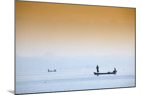 Fishermen on Taungthaman Lake Near Amarapura, Mandalay, Myanmar (Burma), Southeast Asia-Alex Robinson-Mounted Photographic Print
