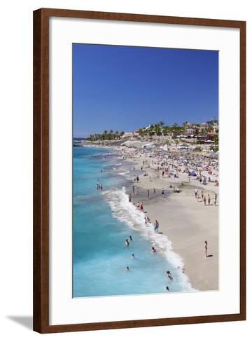 Playa Del Duque Beach at Costa Adeje, Tenerife, Canary Islands, Spain, Atlantic, Europe-Markus Lange-Framed Art Print