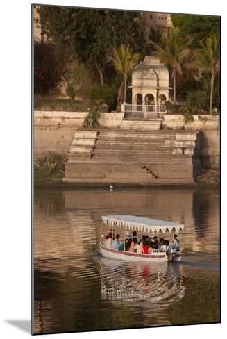 Tourists on a Boat on Lake Pichola in Udaipur, Rajasthan, India, Asia-Martin Child-Mounted Photographic Print