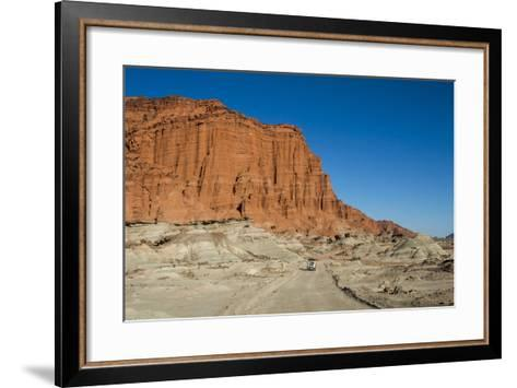 Driving Past Red Los Coloradas Cliff, Argentina-Matthew Williams-Ellis-Framed Art Print