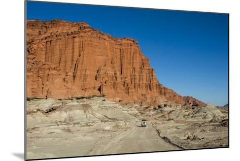 Driving Past Red Los Coloradas Cliff, Argentina-Matthew Williams-Ellis-Mounted Photographic Print