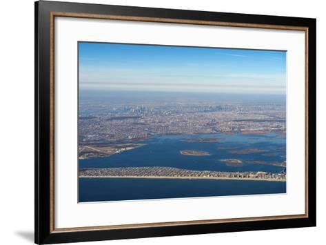 Aerial of New York, United States of America, North America-Michael Runkel-Framed Art Print