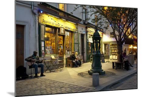 Store at Dusk, Paris, Ile-De-France, France--Mounted Photographic Print