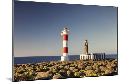 Faro De Fuencaliente Lighthouses at Sunrise, Punta De Fuencaliente, La Palma, Canary Islands, Spain-Markus Lange-Mounted Photographic Print