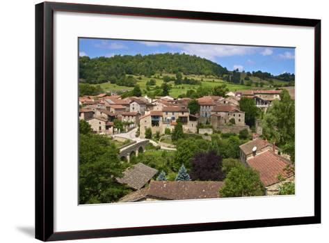 Panorama of Lavaudieu, a Medieval Village, Auvergne, Haute Loire, France, Europe-Guy Thouvenin-Framed Art Print