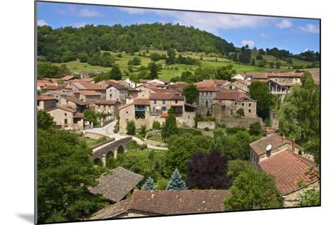 Panorama of Lavaudieu, a Medieval Village, Auvergne, Haute Loire, France, Europe-Guy Thouvenin-Mounted Photographic Print