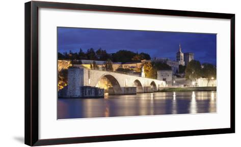 Bridge St. Benezet over Rhone River-Markus Lange-Framed Art Print