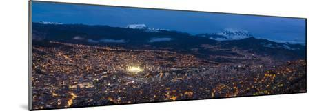 Aerial View of City at Night, El Alto, La Paz, Bolivia--Mounted Photographic Print