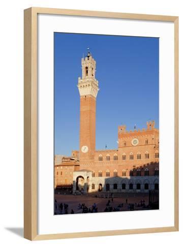 Italy, Tuscany, Sienna - Piazza Del Campo, Palazzo Pubblico, Torre Del Mangia--Framed Art Print