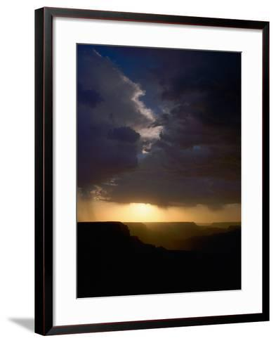 Breaking Storm at Sunset over the Grand Canyon from Yaki Point on the South Rim--Framed Art Print