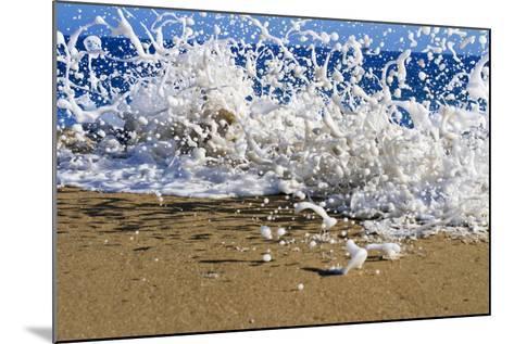 Surf on the Beach, Oahu, Hawaii, Usa--Mounted Photographic Print