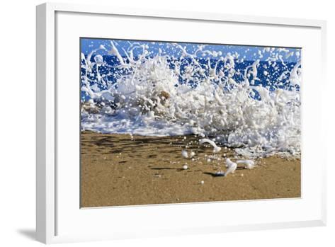 Surf on the Beach, Oahu, Hawaii, Usa--Framed Art Print