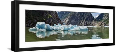 Icebergs Floating on Water of Tracy Arm Fjord, Southeast Alaska, Alaska, Usa--Framed Art Print