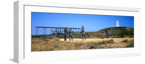 Wright Flyer Sculpture at Wright Brothers National Memorial, Kill Devil Hills, Kitty Hawk--Framed Art Print