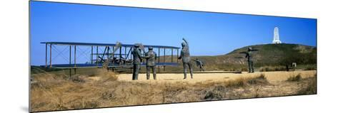 Wright Flyer Sculpture at Wright Brothers National Memorial, Kill Devil Hills, Kitty Hawk--Mounted Photographic Print