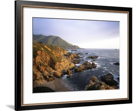 Waves Breaking on Garrapata Beach on the Big Sur Coast of California--Framed Art Print