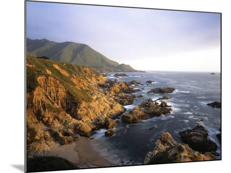 Waves Breaking on Garrapata Beach on the Big Sur Coast of California--Mounted Photographic Print